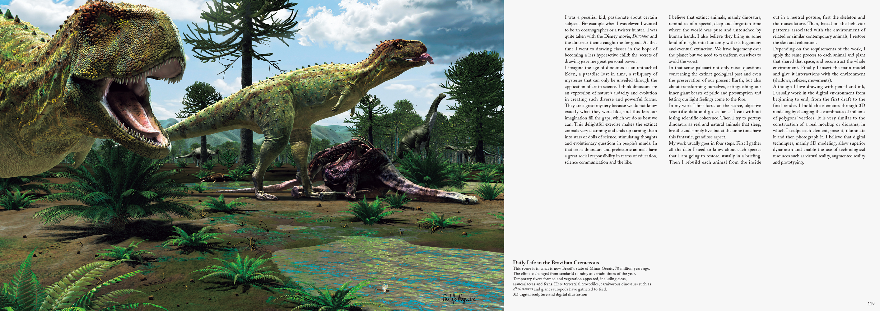 The Art of the Dinosaur Illustrations